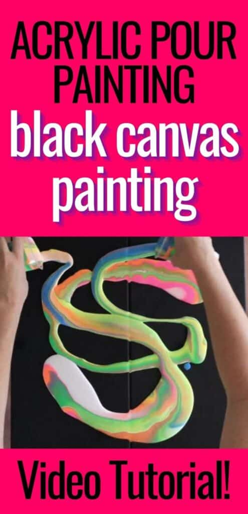 Acrylic Pour Painting Black Canvas Painting Video Tutorial