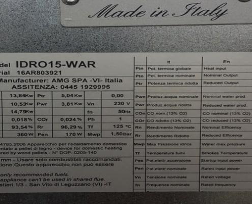 Пелетна камина с водна риза ARTEL CLASS IDRO THERMO L15
