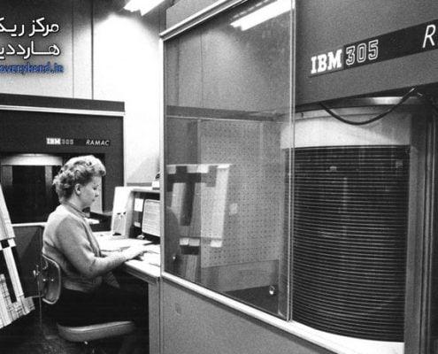 تاریخچه هارد تاریخچه هارد دیسک تاریخچه هارد دیسک IBM RAMAC 495x400