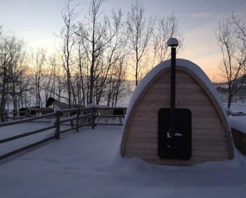 wood fired sauna Guest Ranch