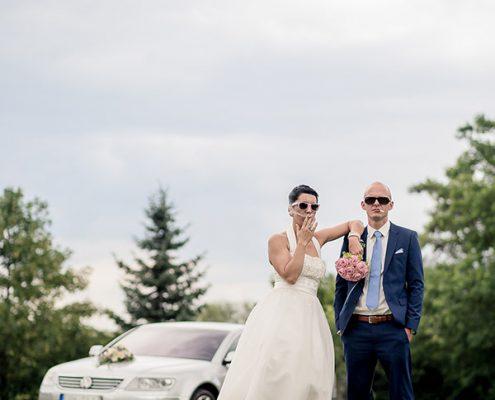Bonny & Clyde Hochzeitsbild Erfurt