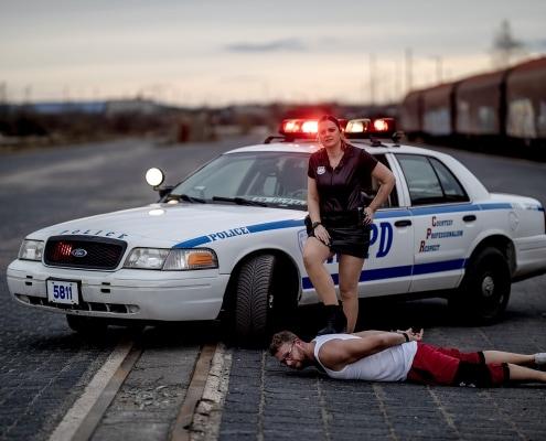 Police Car Fotoshooting in Erfurt mit Original NYPD Auto Canon EOSR & RF 85mm f/1.2L USM