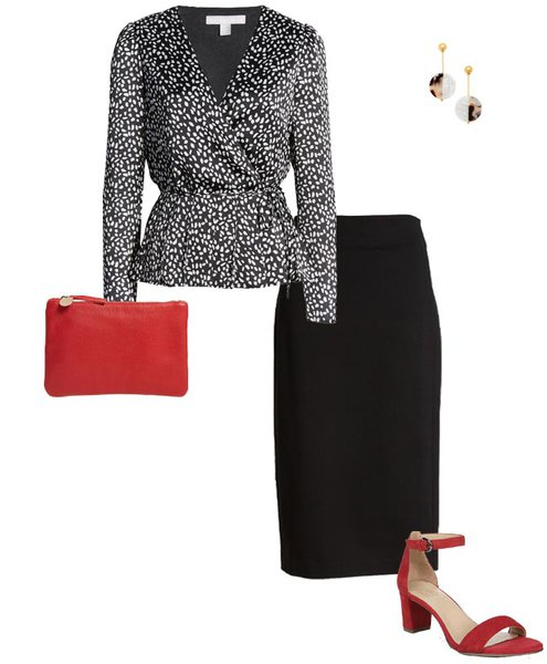 black, white and red make the perfect color combination | 40plusstyle.com