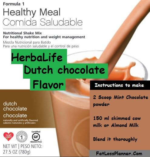 Dutch chocolate - Herbalife shake flavor