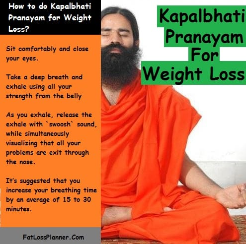Kapalbhati pranayam for weight loss