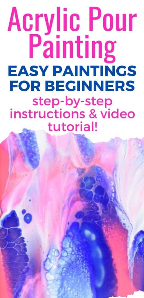 Acrylic Pour Painting Easy Paintings for Beginners
