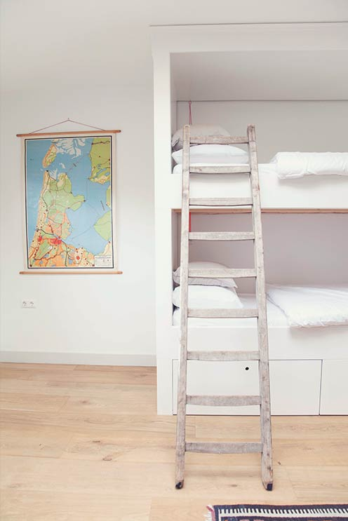 A dorm in style! Is this map showing you the way to the beach?