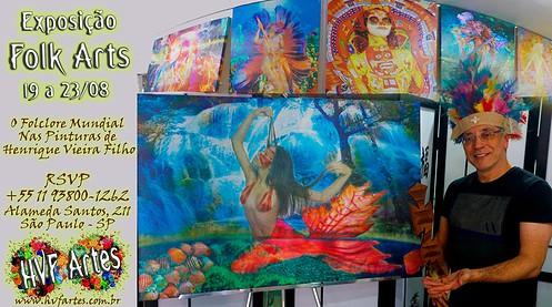 Exposição Folk Arts - O Folclore Mundial Nas Pinturas de Henrique Vieira Filho