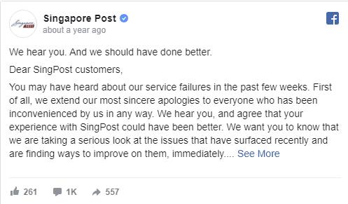 singapore post social media turns bad
