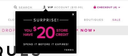 ShoeDazzle $20 credit