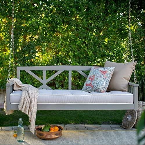 BELHAM LIVING MODERN COTTONWOOD DEEP SEATING PORCH SWING BED