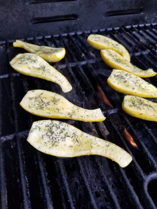 Grilled Squash, Using Your Garden Produce, Simple recipes from the Garden