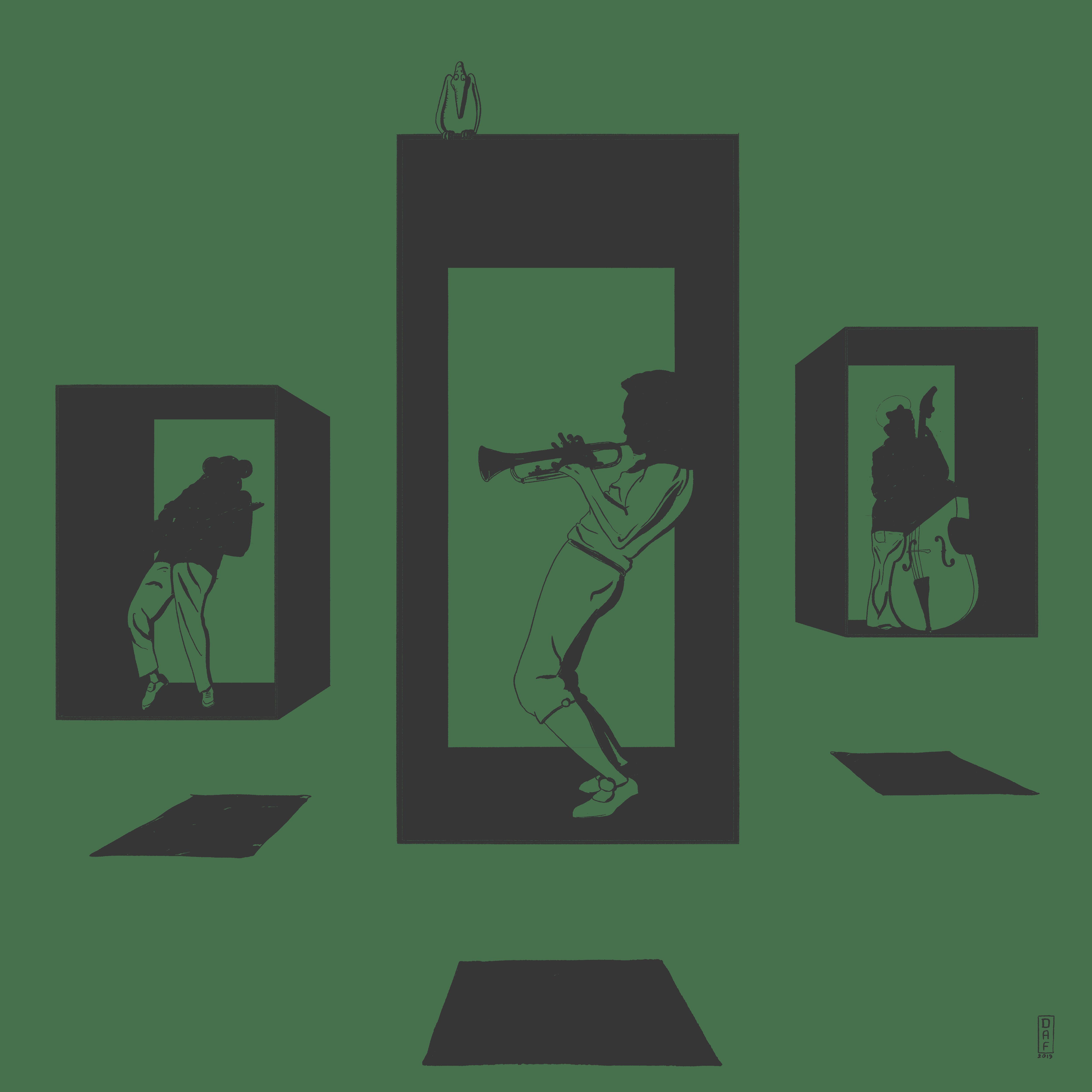 Illustrazione di musicisti ispirati a Moebius