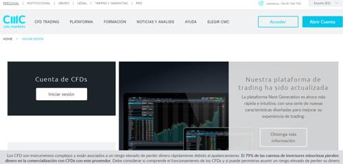 CMC Markets pagina web