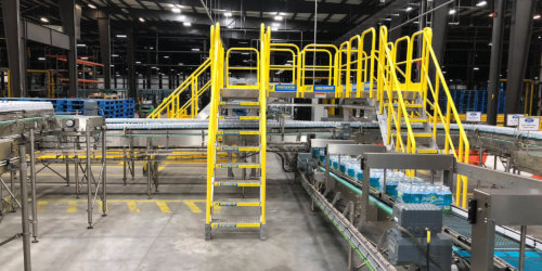 Conveyor crossover stairs