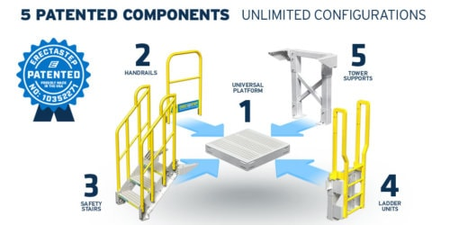 ErectaStep-Patented-Metal-Stairs-components