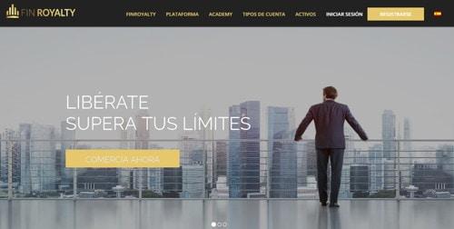 Finroyalty pagina web