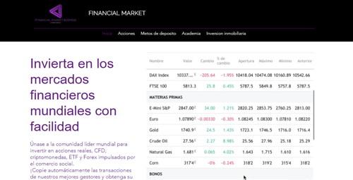 Financial market pagina web