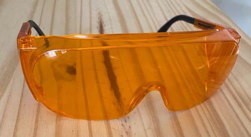 Orange blue-light blocking glasses