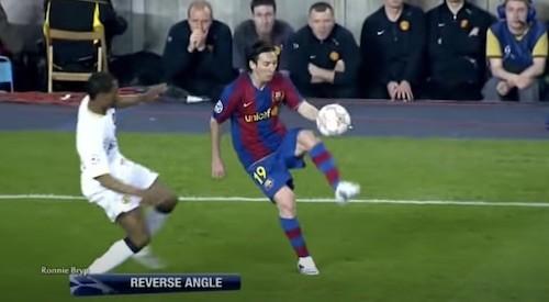 Messi Evra Flick