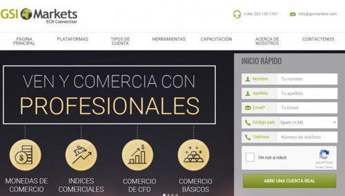 GSI Markets pagina web