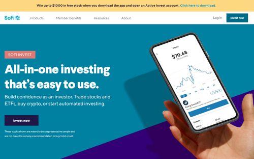 SoFi Invest revision