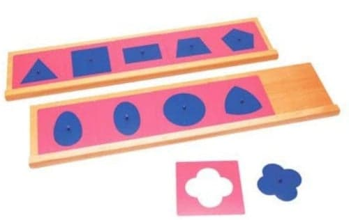 Montessori-Store Emboîtements métalliques avec Deux Supports