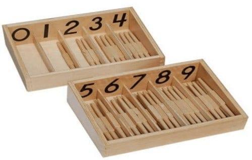 Montessori-Store Fuseaux Chiffres en français