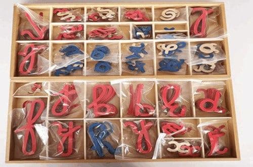 Montessori-Store Alphabet Mobile en Bois, Lettres cursives
