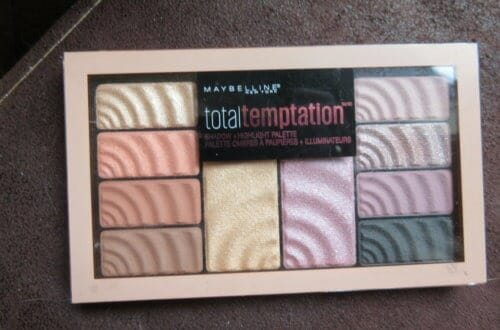 Maybelinne total tempation eyeshadow-highlight palette