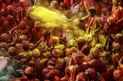 holi festival of India in mathura