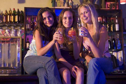 3 ladies after attending bartending school online