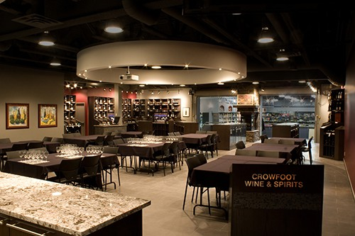 Crowfoot WIne & Spirits event space