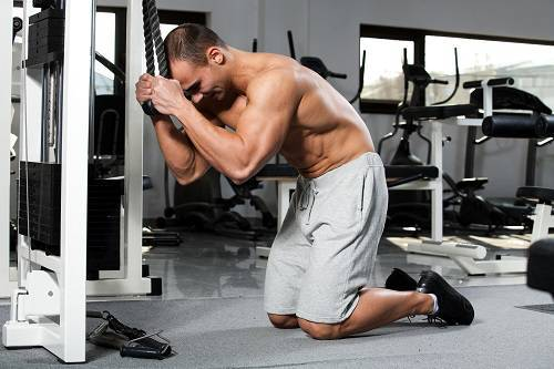 cable crossover as ab workout machine