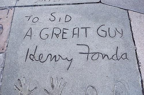 ヘンリー・フォンダのサインと手形