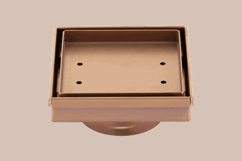 Pixi Tile Insert Floor Waste 125mm - Brushed Copper