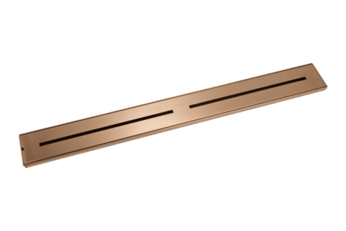 Trey Shower Channel Waste 900mm - Brushed Copper