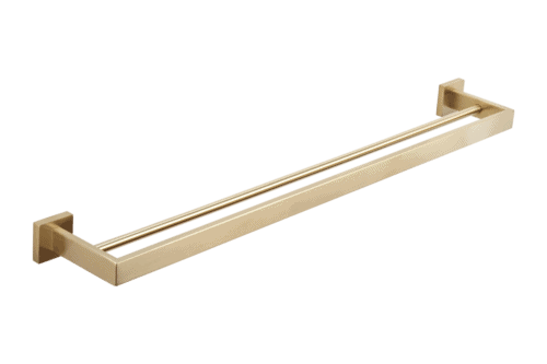 Vaada Double Towel Rail - Brass - 760mm
