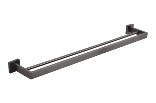 Vaada Double Towel Rail - Gunmetal - 760mm