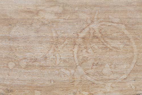 water marks and stains on table