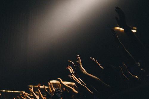 concert, hand, event