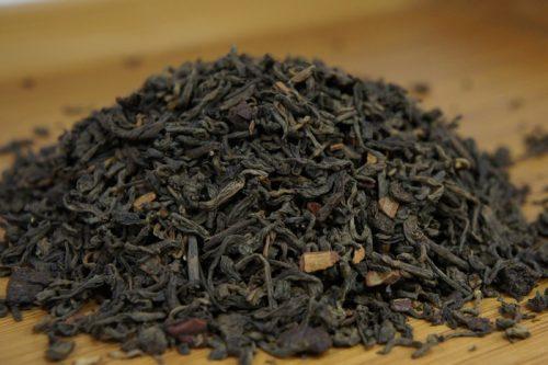 Купить настоящий китайский россыпной чай шу пуэр Вишня-Корица Оптом и в розницу с доставкой. Фото.