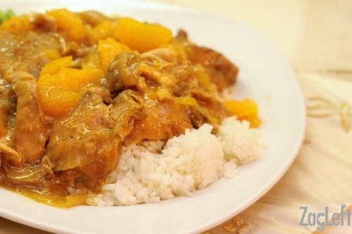 Crockpot Mandarin Orange Chicken Recipe from ZagLeft - easy and delicious