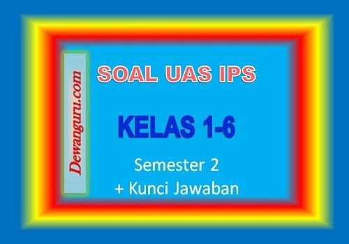 Soal UAS IPS Kelas 1-6 Semester 2 + Kunci Jawaban