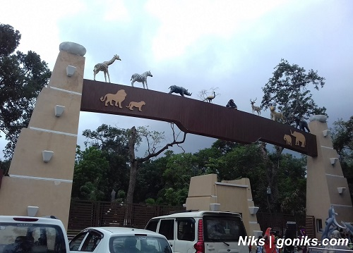 entry gate of zoo in indore