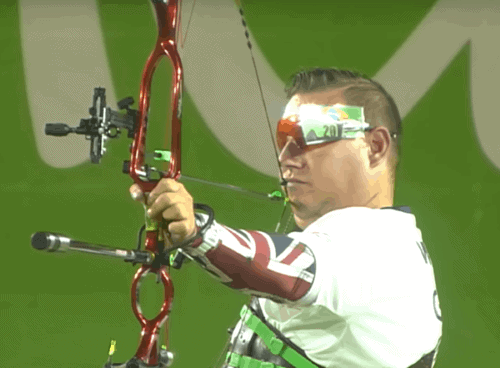 John Walker competing in the 2016 Paralympics