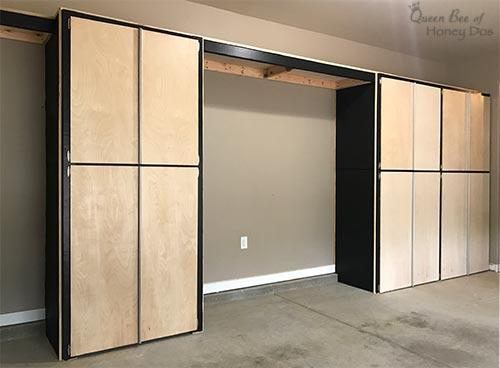 How to enclose storage shelves