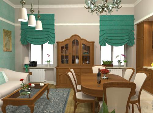 projekt-kuchni-salonu-projektowanie-wnętrz-lublin-perspektywa-studio-kuchnia-z-salonem-styl-klasyczny-meble-dębowe-kamienica-mozaika-lazurowa-Wodogrzmoty-mickiewicza-6