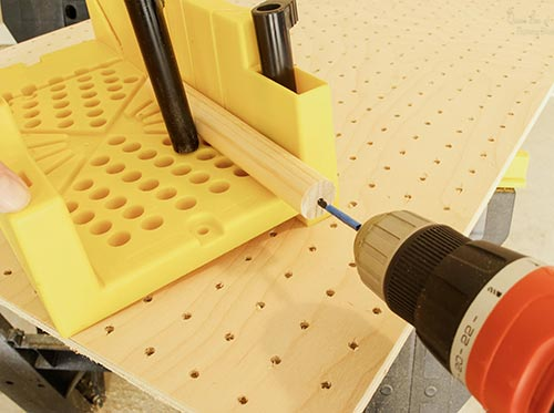 drilling dowel rods