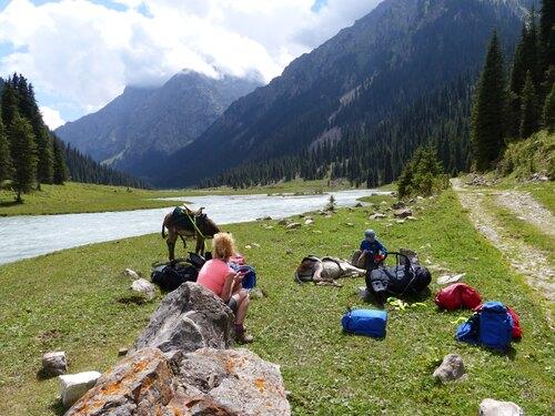 Kirgistan Kyrgyzstan Eseltrekking TianShan